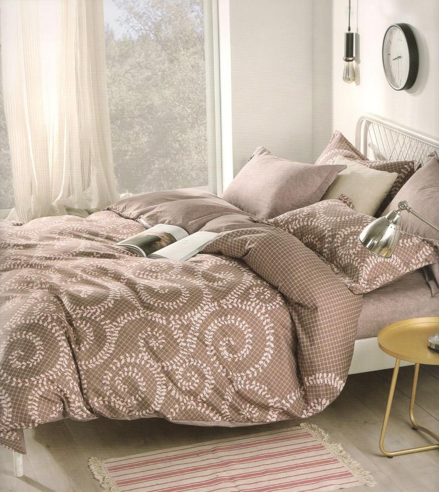 ENY 3 bavlnené obliečky hnedé 200x220 - 200 x 220 cm - 6 SET. 1x prikrývka. 2x vankúš . 2x malý vankúš. 1x plachta - Hnedá