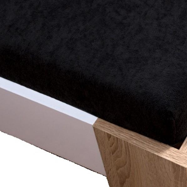 Homa froté plachta čierna - 160 x 200 cm