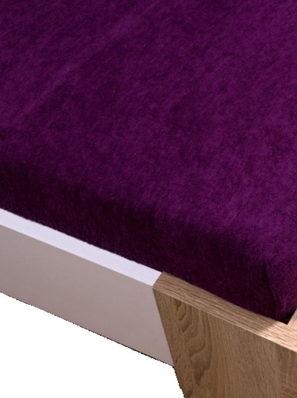 Homa froté plachta fialová tmavá - 180 x 200 cm
