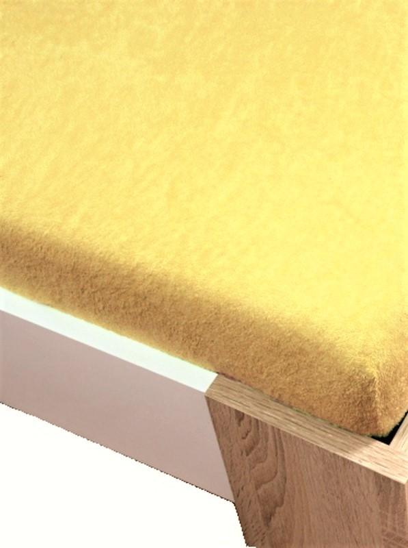 Homa froté plachta svetlo žltá - 90/100 x 200 cm