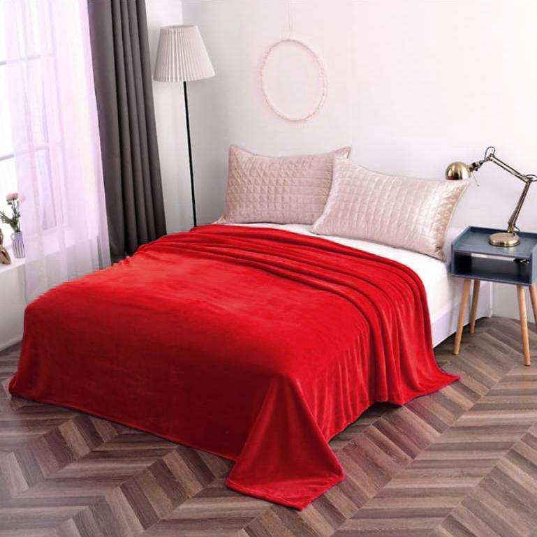 Hrejivá deka Homa vhodná pre alergikov červená - 150 x 200cm - Červená