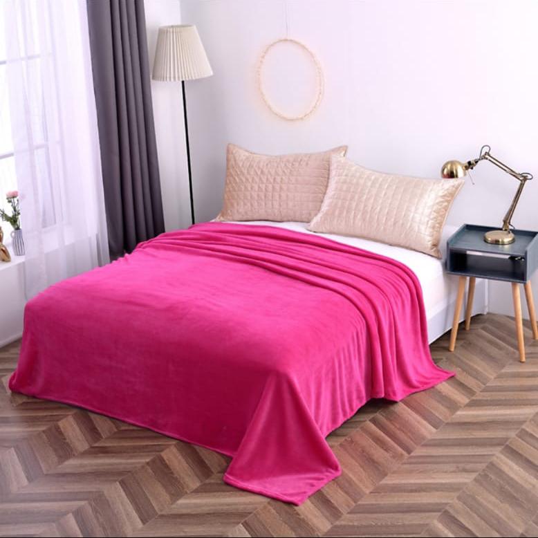 Hrejivá deka Homa vhodná pre alergikov ružová - 150 x 200cm - Ružová