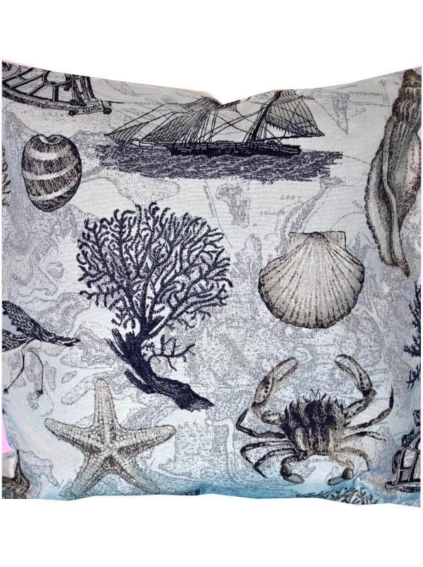 MORSKÝ SVET obliečka na vankúš 45x45cm - 45 x 45 cm
