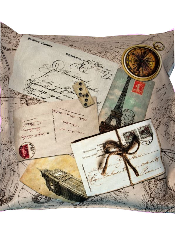 POST CARD WORLD obliečka na vankúš 45x45cm - 45 x 45 cm