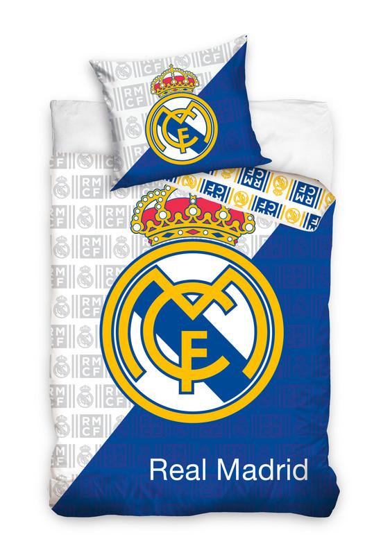 REAL Madrid bavlnené obliečky 140x200cm - 1x vankúš 1x prikrývka - Modrá tmavá