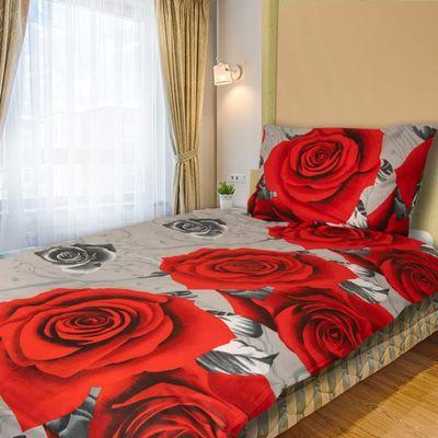 JARA červená - 140x200cm bavlnené obliečky