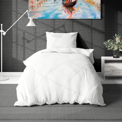 KLASIK biele 140x200cm bavlnené obliečky