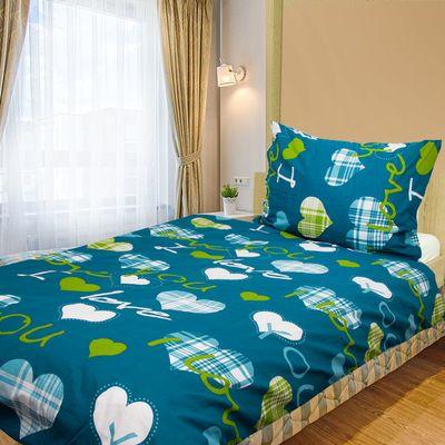 LOVE YOU modrá - 140x200cm bavlnené obliečky