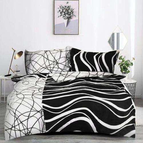 VLNY čierna 140x200cm bavlnené obliečky